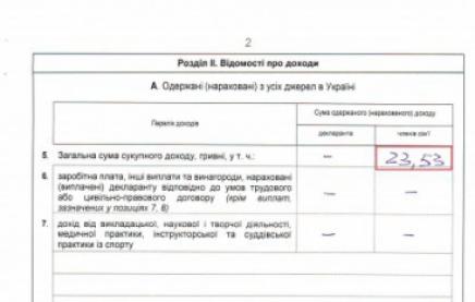 Новый заместитель председателя Львовской ОГА В 2013 году задекларировал 23 гривны