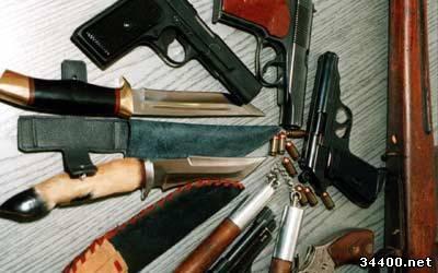 В Дрогобыче добровольно сдают оружие, привезенную из зоны АТО
