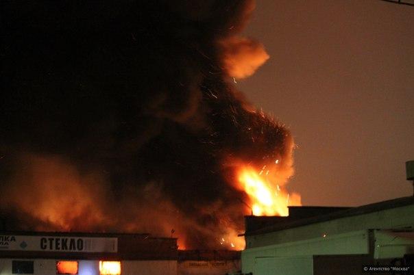 В Москве вспыхнули два больших пожара (ВИДЕО)