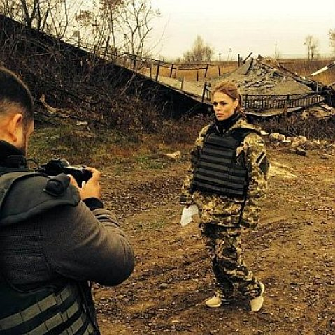 Ольга Фреймут завітала у зону АТО