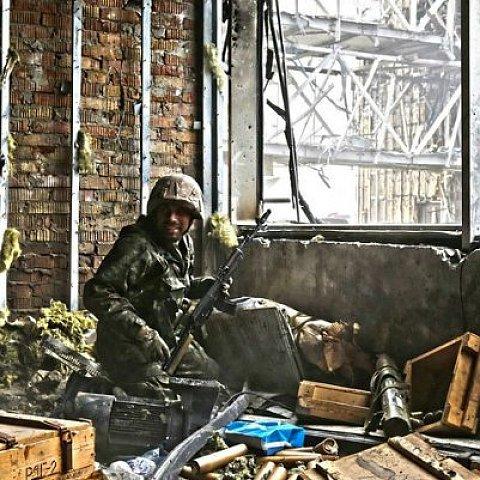 """""""Киборги"""" показали свой """"офис"""" в Донецком аэропорту"""