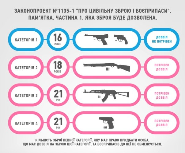Оружие в руки народа или очередной законопроект новой Рады