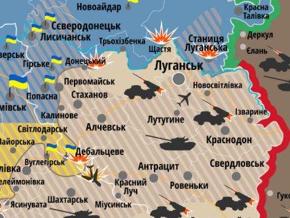 Карта ситуації на Донбасі : 14 грудня ( ІНФОГРАФІКА)