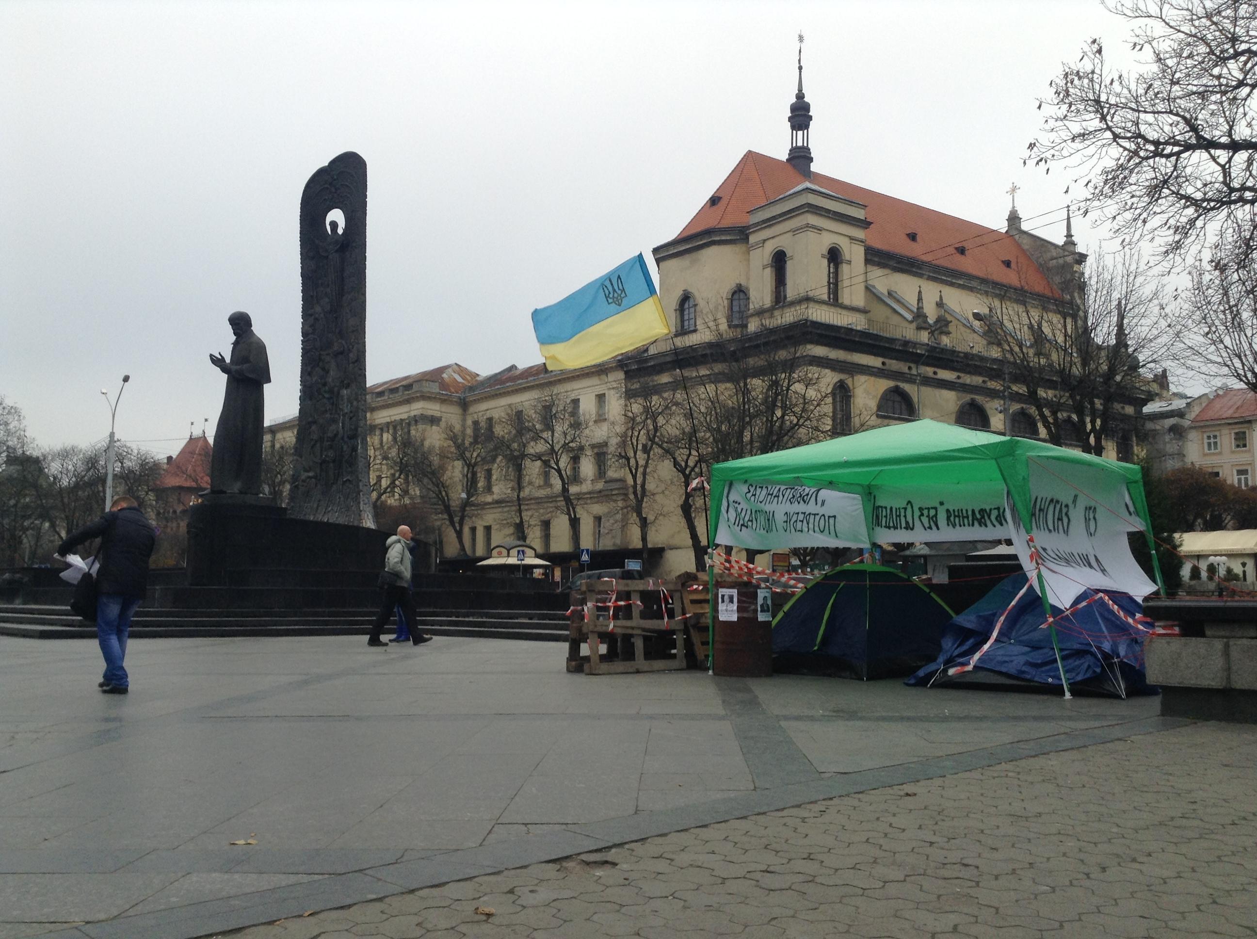 У Львові розгромили майно акції протесту проти очільників «Львівтрансгазу» і «Львівгазвидобування»