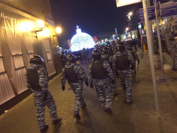 Появилось видео задержания Навального на Манежной площади