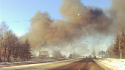 Как сгорели автобусы АТП №1 (ФОТОРЕПОРТАЖ)