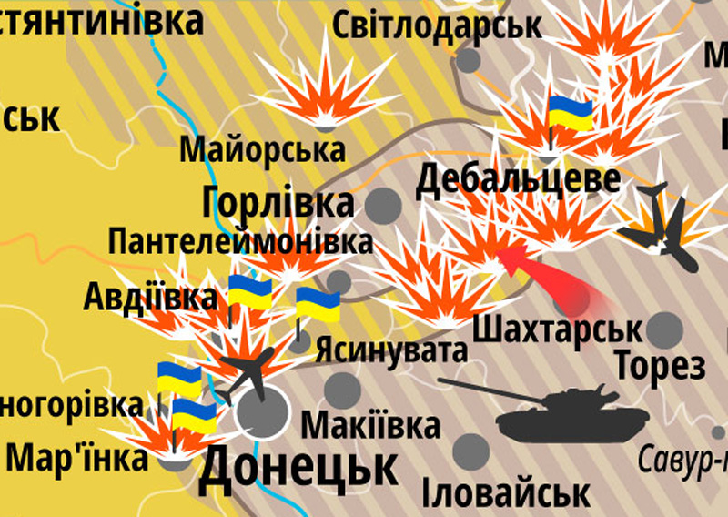 """На Дебальцевском плацдарме уже 2,5 тысячи боевиков, в Горловке готовят """"оборону"""" – Тымчук"""
