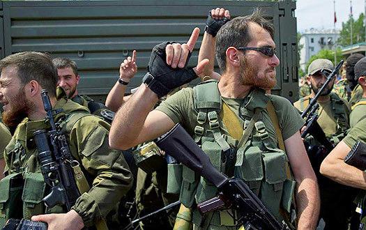 Кадировці нахабно поводяться в Донецьку, і заявляють, що вони на своїй землі (ВІДЕО)