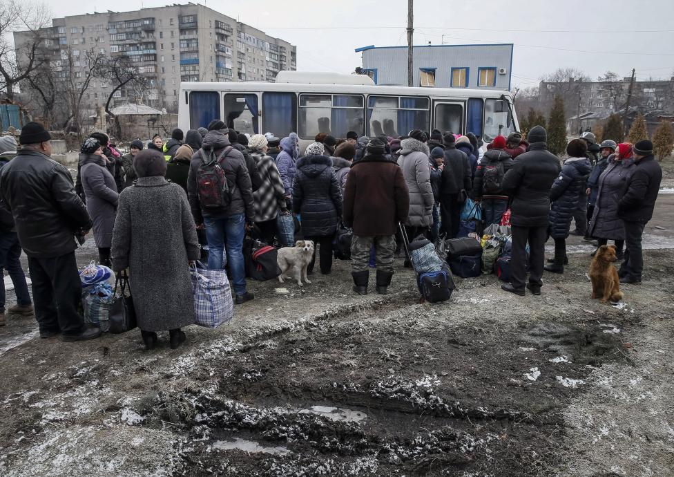 Мешканці Дебальцевого не хочуть їхати з міста, бо бояться обстрілів бойовиків