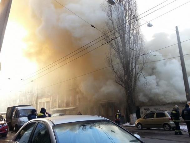 """Біля """"Інтера"""" – пожежа (Фото)"""