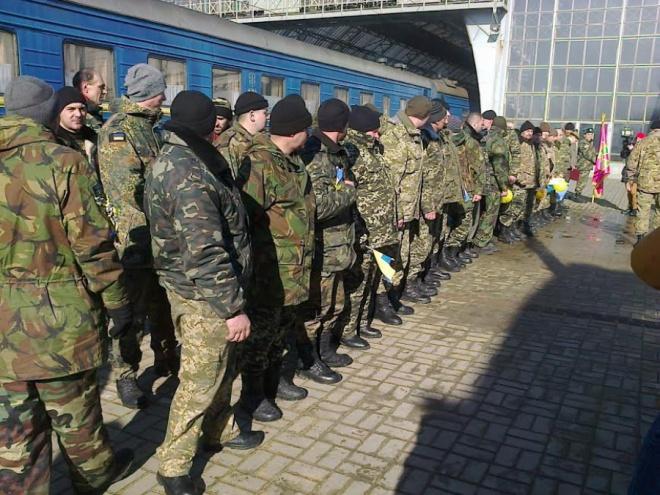 У Львові зі зони АТО зустріли сотню прикордонників (фото)