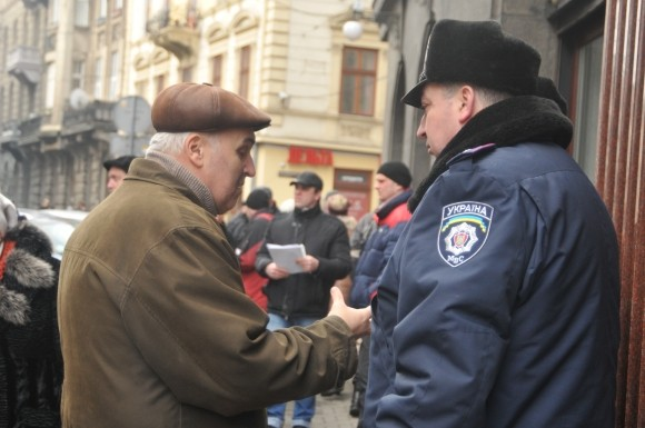 Через девальвацию гривни в Львове пикетировали НБУ