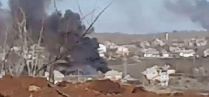 Силы АТО уничтожили транспорт боевиков с боеприпасами 18+ (ВИДЕО)