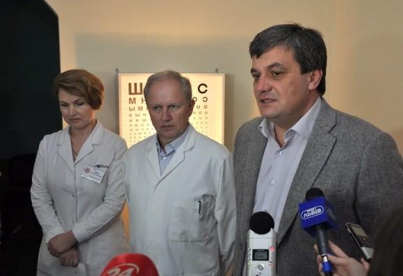 У львівській 8-мій лікарні відкрили глаукомному кабінет із новими обладнанням