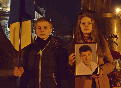 У Львові вшанували пам'ять Бориса Нємцова (Фото)