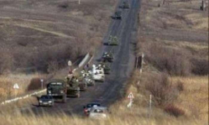 З Росії на Маріуполь йде колона танків, САУ, «Градів» і БТРів (ФОТО)