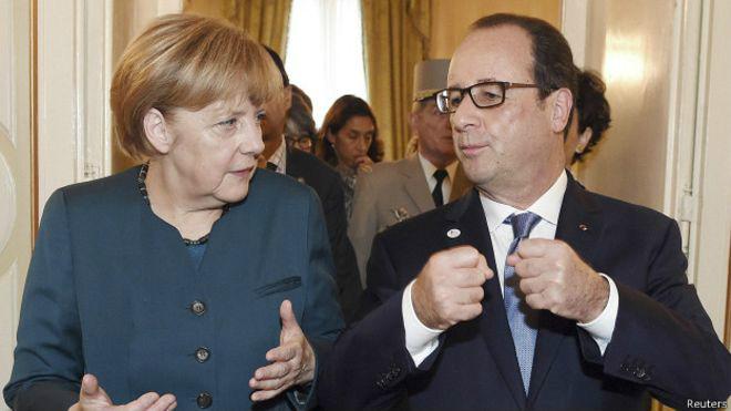 Туск, Меркель и Олланд договорились продлить санкции против РФ до конца года – Reuters