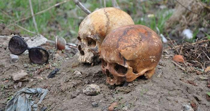 Невідомі у Сумах повісили черепи в сонцезахисних окулярах на ворота автокооперативу (ФОТО) (ВІДЕО)