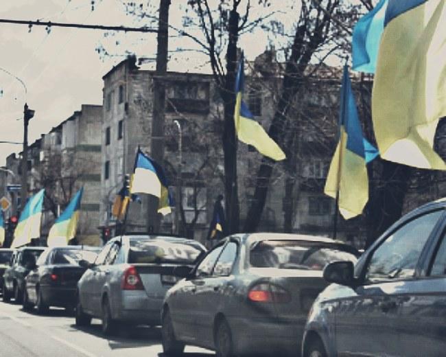 Патріотичний автопробіг на Луганщині (ВІДЕО)