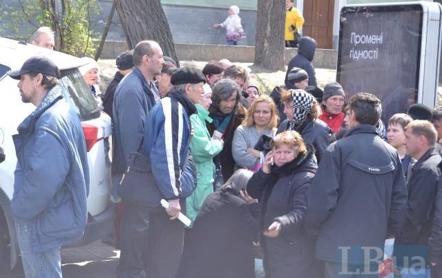 """Как """"шахтеры"""" получали деньги за митинг под Верховной Радой (ВИДЕО)"""