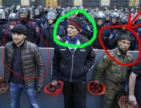 На київському мітингу шахтарів засвітився «русский мир» з Донецька (ФОТО)