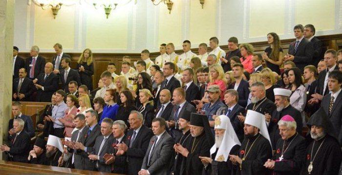 Керівництво УПЦ МП не піднялося вшанувати полеглих Героїв України (фотофакт)