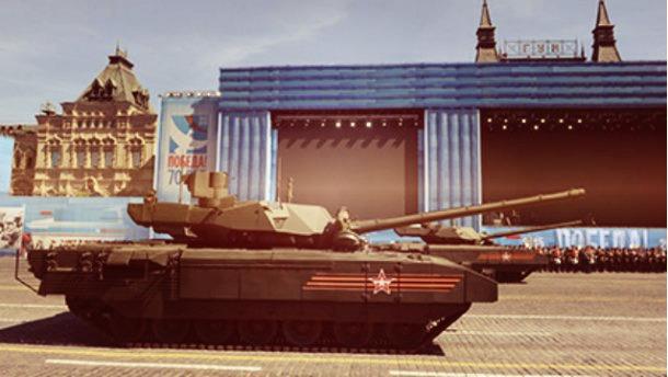 Российский танк заглох посреди Красной площади во время репетиции парада (видео)
