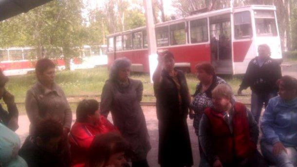 В окупованому Єнакієвому люди вийшли на страйк