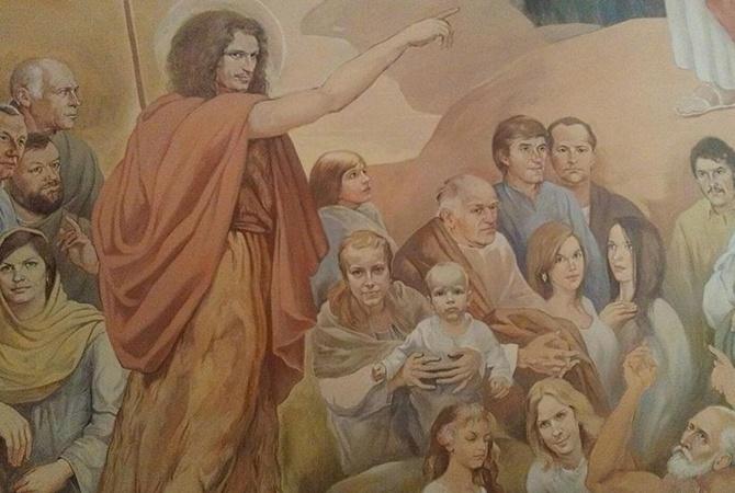 Во львовской церкви нарисовали Кузьму Скрябина (ФОТО)