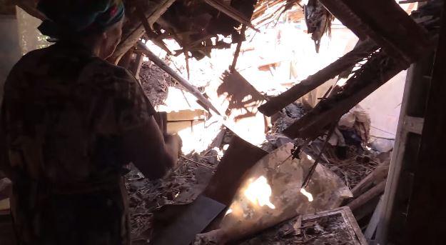 У Мережі опублікували шокуюче відео розгромленої обстрілами Мар'їнки
