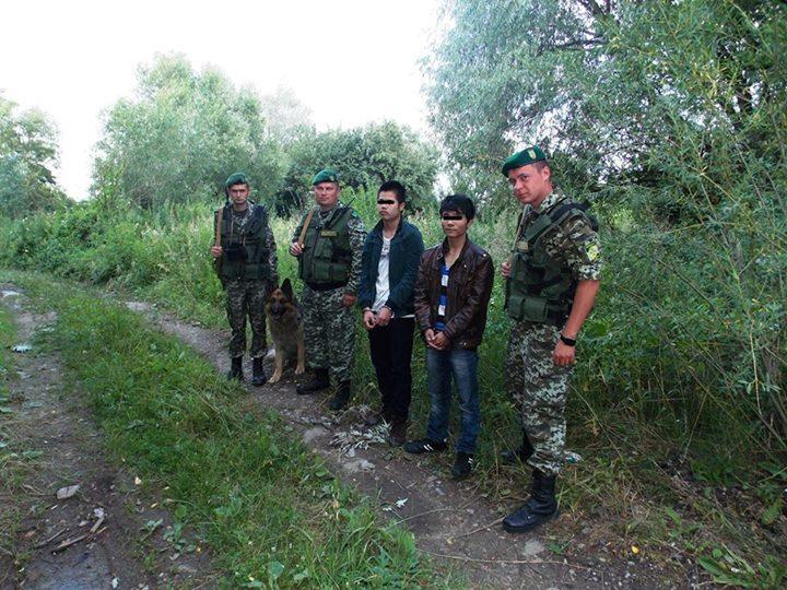На українсько-польському кордоні вдалось затримати 5 нелегалів (фото)