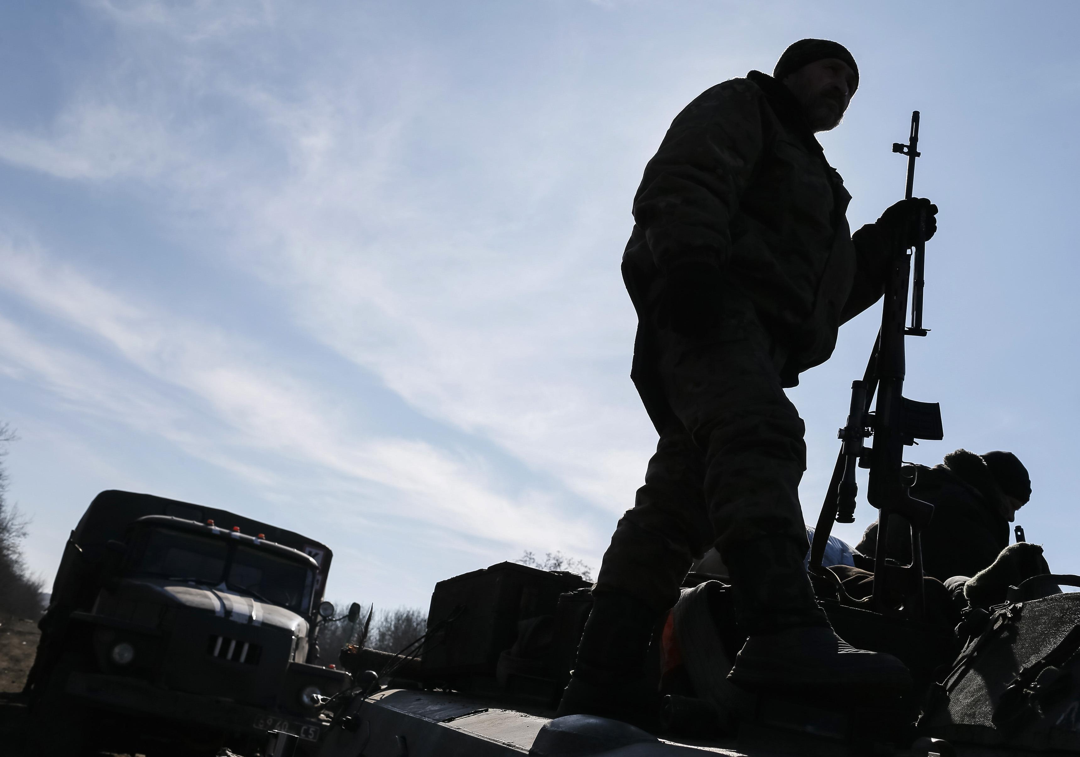 Як російські бойовики обстріляли селище Водяне  (ВІДЕО)