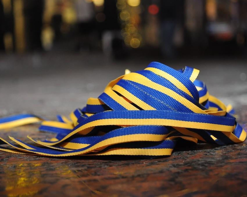 Завтра львів'ян закликають привітати десантників жовто-блакитними стрічками