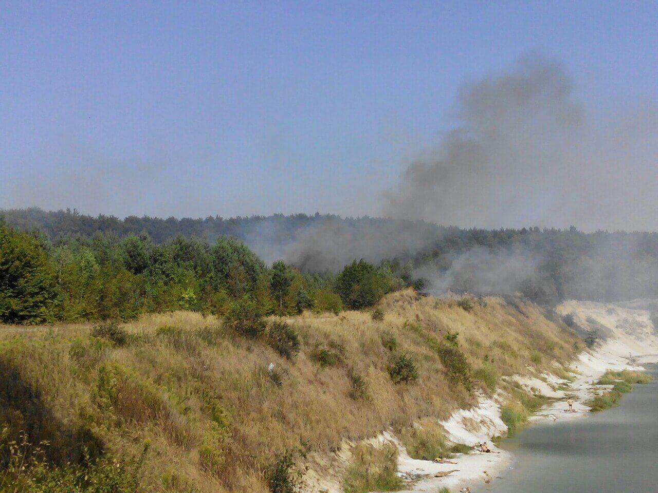Возле села Ясниска на Львовщине горит лес (фото)