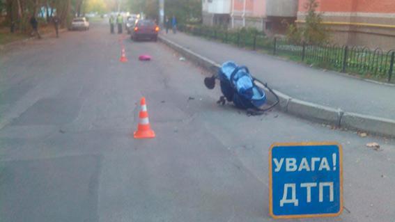 В Виннице иномарка сбила двух женщин с младенцами (Фото)