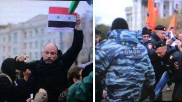 """На прибічника """"Новоросії"""" напали в Москві"""