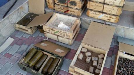 """Около  Луганской ТЭС нашли тайник с """"минами-лягушками"""""""