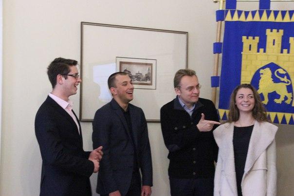 Новообраний студентський мер Львова стала позаштатним радником Андрія Садового (Відео)