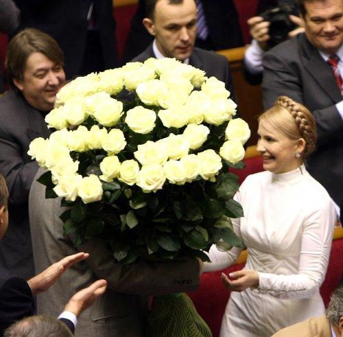 """Тимошенко на дні народження шокувала всіх відвертою сукнею а-ля """"П'ятий елемент"""" (ФОТО)"""
