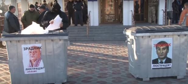 Під Запоріжжям депутат відстрілювався від люстрації (відео)