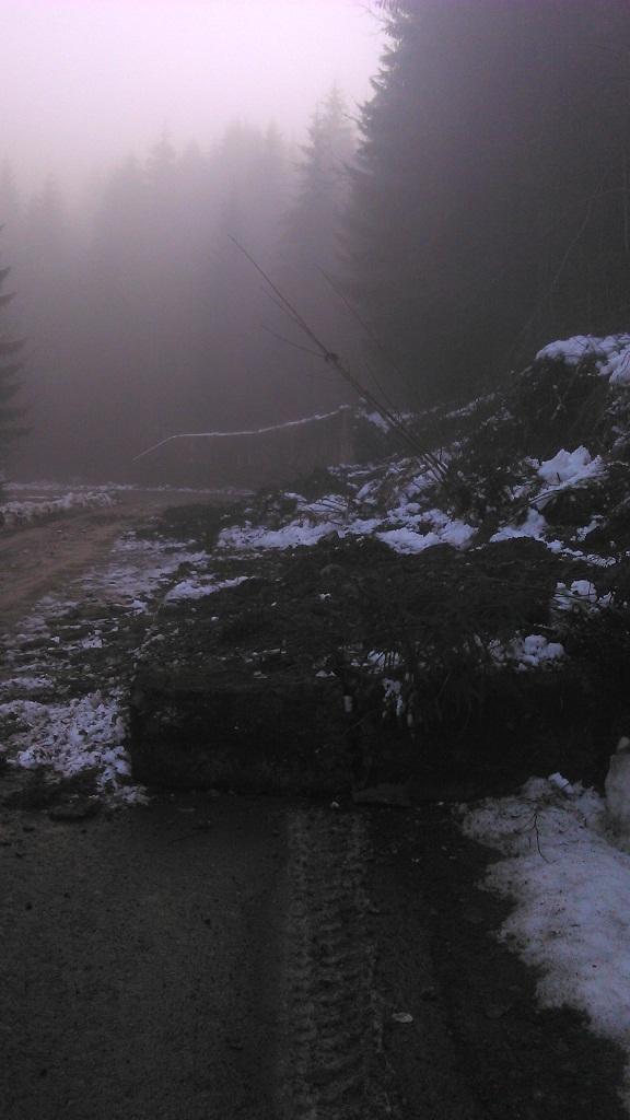 Негода вирує на Закарпатті: стався обвал на дорозі (ФОТО)