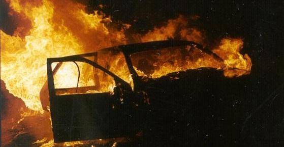 У Тернопільській області поліцейському спалили машину