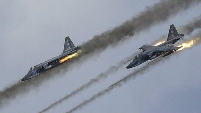 Російська авіація розстріляла гумконвой у Сирії