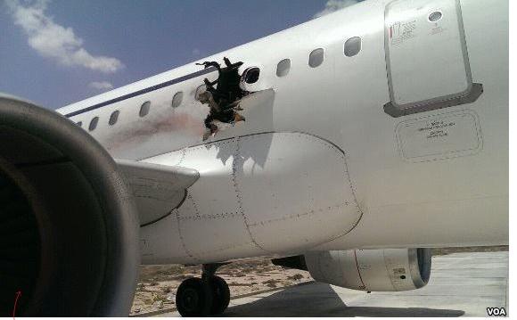 У Сомалі стався вибух на борту літака