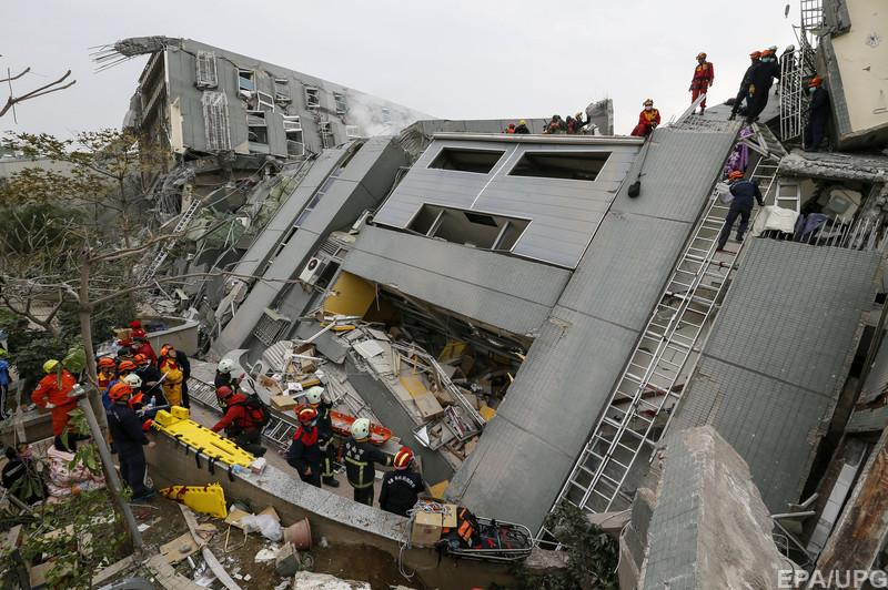 Землетрус на Тайвані: кількість жертв зросла до п'яти (Фото)