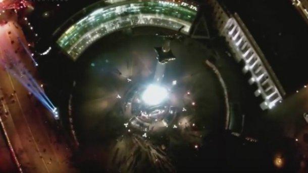 Промені гідності на Майдані: вражаюче відео з висоти пташиного польоту