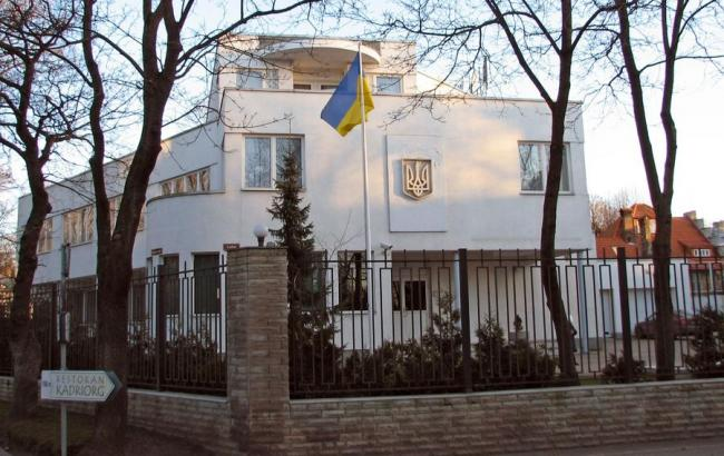 В Москве забросали яйцами посольство Украины