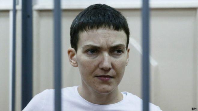 Савченко показала в российском суде средний палец (Фото, видео)