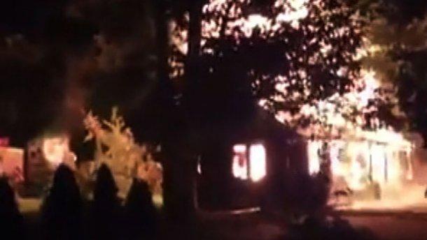 В Ужгороді миттєво згоріло кафе