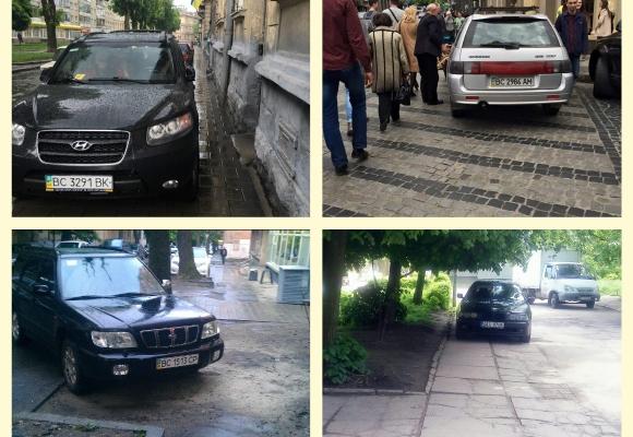 """""""Я паркуюся, як олень"""": ТОП-5 львівських водіїв-порушників (ФОТО)"""